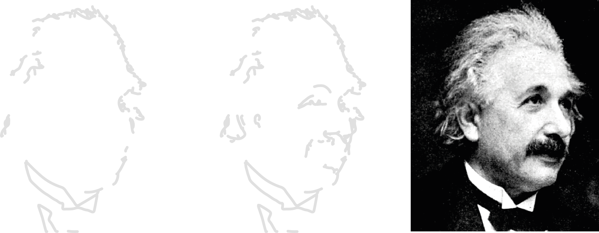 A picture of Einstein, layer by layer.